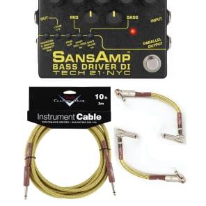 New Tech 21 SansAmp Bass Driver DI V2 Bass Guitar Pedal! Free 10ft & Fender Patch!