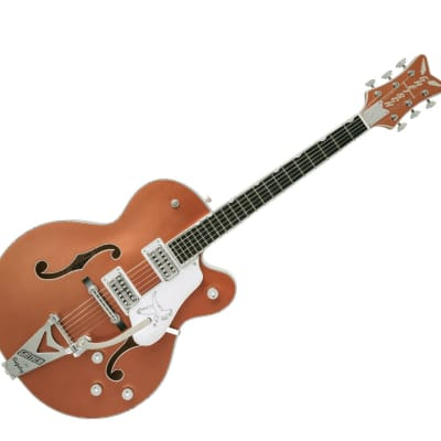 Gretsch G6136T Limited Edition Falcon™ With Bigsby® Semi-Hollow Body Electric Guitar - Ebony/Two-Tone Copper Metallic/Shoreline Gold - 2401531831