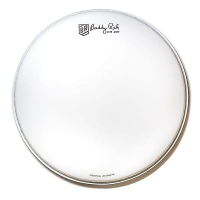 "Aquarian TCBR14 14"" Limited Edition Buddy Rich Commemorative Signature Snare Drum Head"