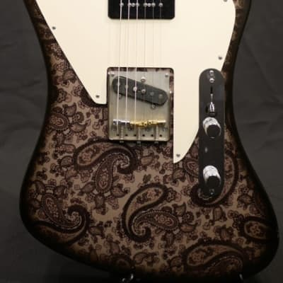 Crook Custom Guitars Brown Paisley Non-Reverse Telebird -Brown Paisley / Maple- for sale