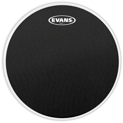"Evans SB13MHSB Hybrid-S Black Marching Snare Drum Head - 13"""