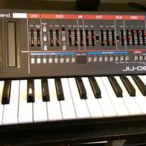 Roland Boutique Series JU-06 with K-25m Keyboard 2010s Black image