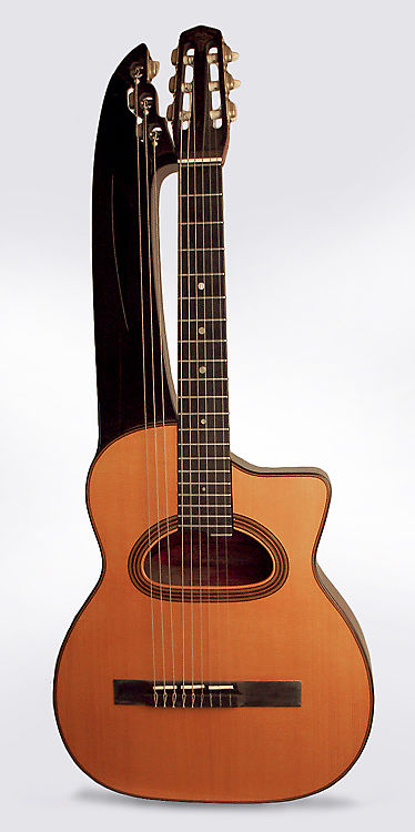 Selmer  Maccaferri Concert Harp Guitar (1932), ser. #275, original brown hard shell case.