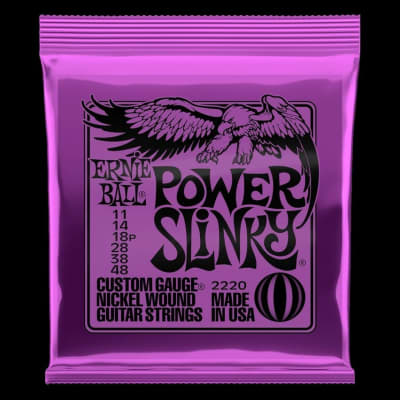 Ernie Ball Power Slinky Electric Guitar Strings 11-48
