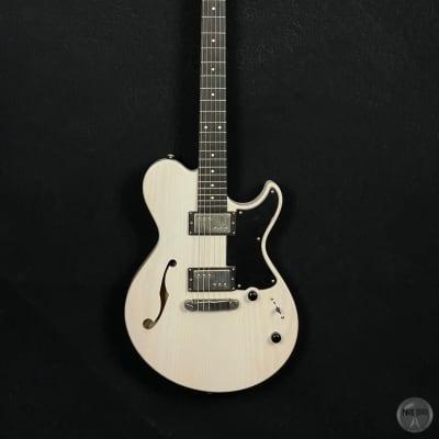 Helliver F-Model 2011 vintage white, ash body, Amber pickups, original case for sale