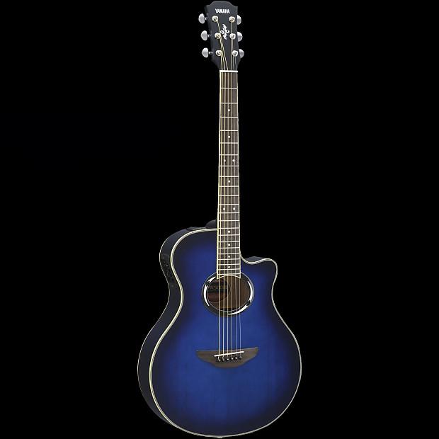 Yamaha apx500iii oriental blue burst acoustic electric for Yamaha refurbished warranty