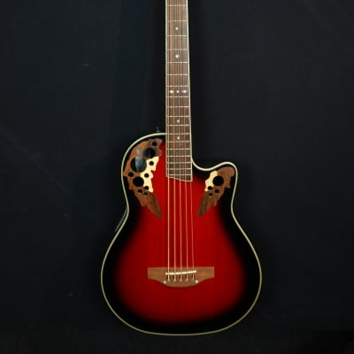 Ovation Celebrity CS 275 5-string acoustic bass in red sunburst, Korean made for sale