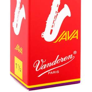 Vandoren SR2715R Java Red Tenor Saxophone Reeds - Strength 1.5 (Box of 5)