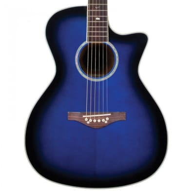 Daisy Rock DR6278 Wildwood Cutaway Acoustic Electric Guitar Royal Blue Burst for sale