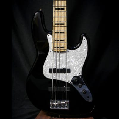 Used 2012 Fender American Deluxe Jazz Bass V w/ Case - Black 010420 for sale
