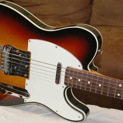 2003 Fender Telecaster Custom '62 Reissue MIJ Three tone Burst with factory Bigsby and HSC for sale