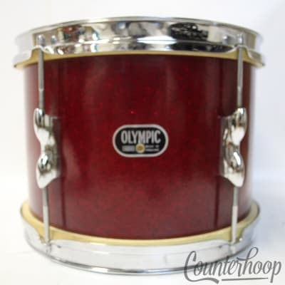 """*Premier Olympic 12x8""""Red Sparkle Tom Drum 3Ply Birch Vintage 60s England Metric"""