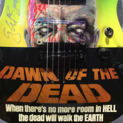 Custom Schecter 2002 NAMM Masterworks Display Catalog Guitar SIGNED Dawn Of The Dead George Romero for sale