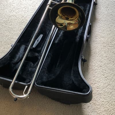 Jupiter Student Model Tenor Trombone 2010s Clear-Lacquered Brass/ Nickle plated slide