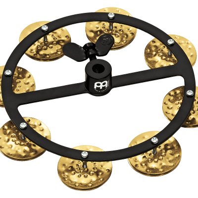Meinl Percussion HTHH1B-BK Headliner Series Hi-Hat Tambourine With Hammered Brass Jingles (VIDEO)