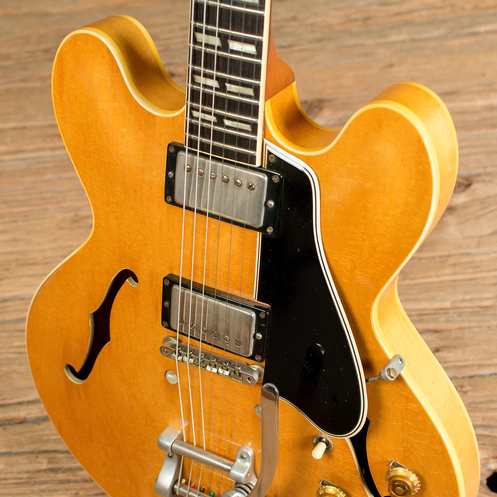 Gibson Es 335 Tdn With Custom Factory Split Parallelogram Inlays And Wiring Harness Bigsby Natural 1960