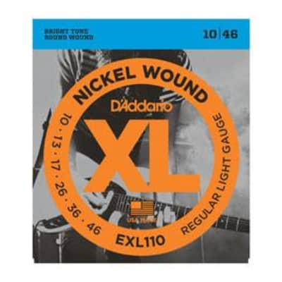 D'Addario EXL110 nickel wound electric guitar strings, Reg Light, .010-.046