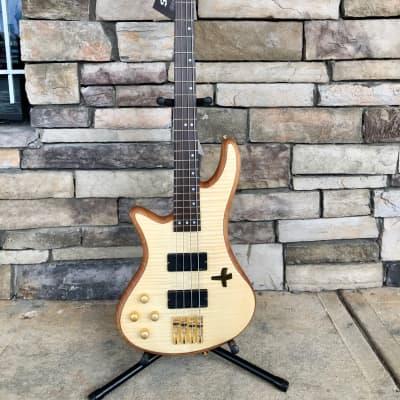 Schecter  Stiletto Custom-4 Active 4-String Bass Natural Satin