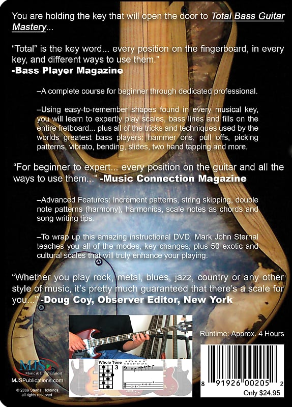 MJS Music & Entertainment BASS GUITAR Total Scales, Techniques and  Applications #1 Best-Selling Lesson DVD