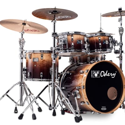 Odery Eyedentity Drum Set Shell Pack--Mappa Burl, Brown Fade: 10, 12, 16, 22