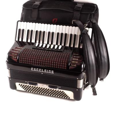 Rare TOP Quality Italian Accordion Excelsior Mod. 312 - 120 bass, 10 sw.+Case & Straps~Amazing Sound