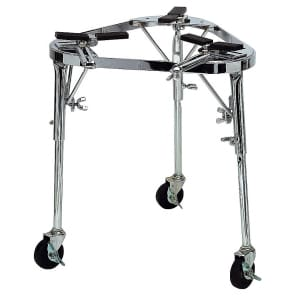 Latin Percussion LP636 Collapsible Conga Cradle Stand w/ Legs and Wheels