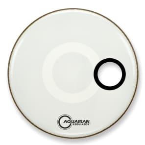 "Aquarian RSM22WH-U 22"" Regulator Bass Drum Head w/ 4.75"" Off Set Port Hole"