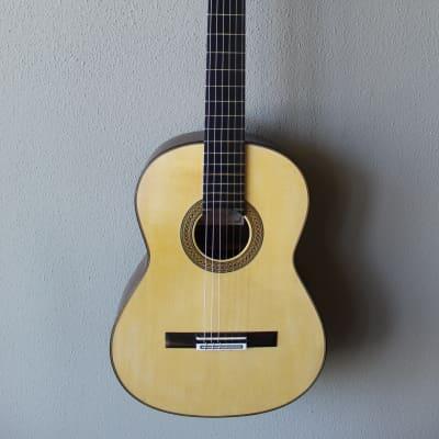 Brand New Francisco Navarro Grand Concert Bouchet Model Spruce Top Classical Guitar for sale