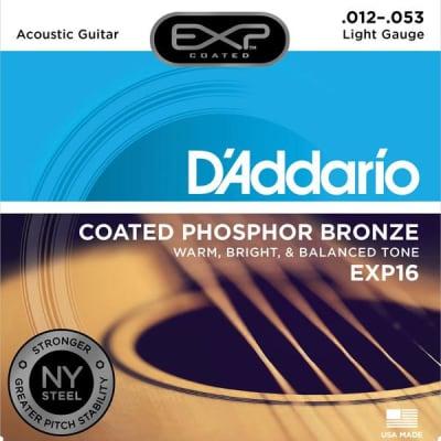 D'Addario EXP16-3D 3-Pack EXP Phosphor Bronze Acoustic Guitar Light Strings 12-53