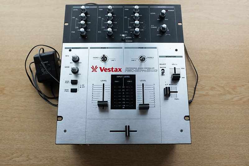 Vestax PMC 05 PRO III Scratch mixer Mid 2000s Silver and black