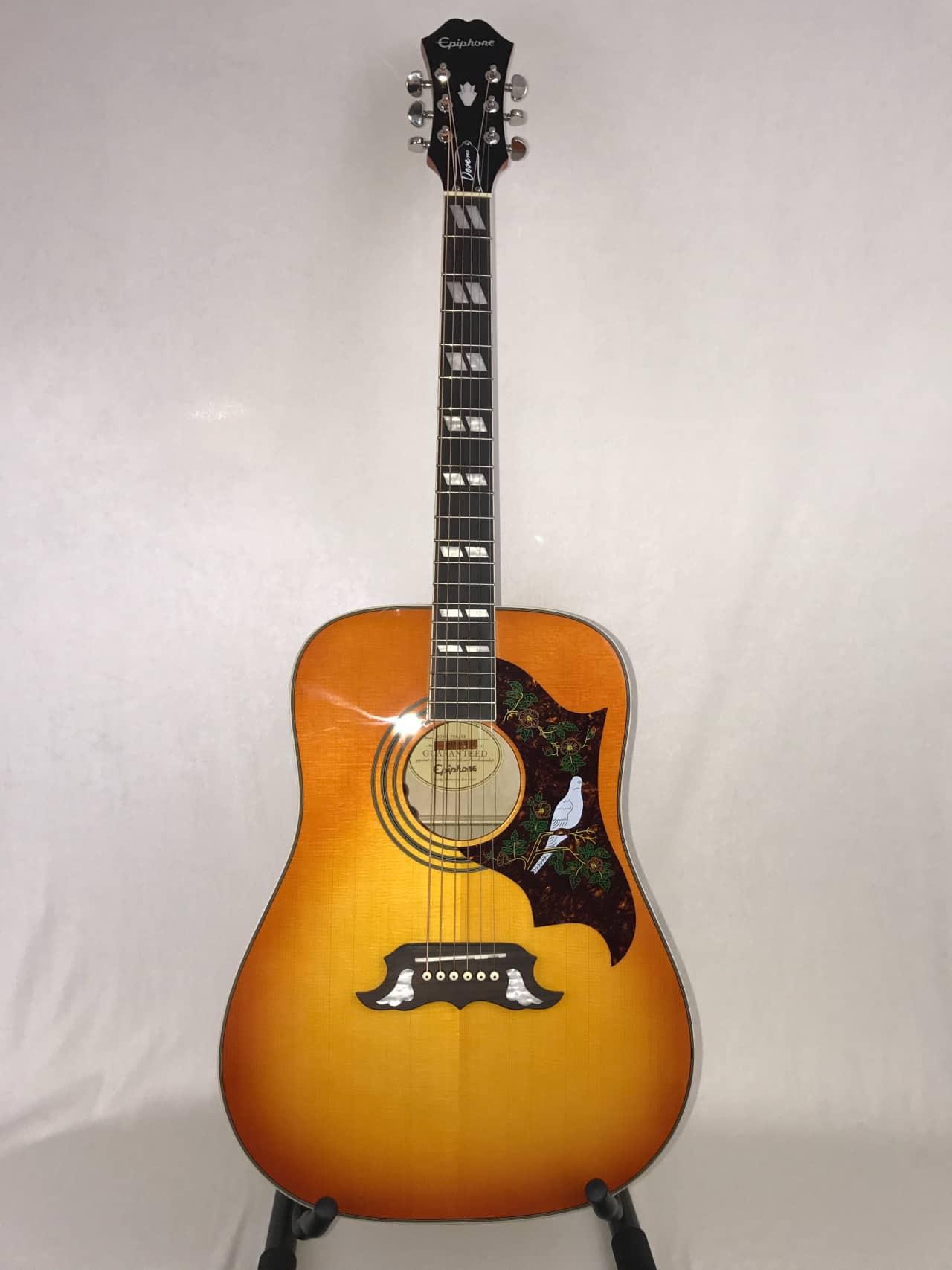 epiphone dove pro acoustic electric refurbished guitar reverb. Black Bedroom Furniture Sets. Home Design Ideas