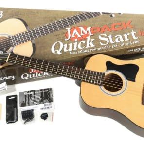 Ibanez JamPack IJV30 3/4 Size Acoustic Guitar Pack Natural for sale