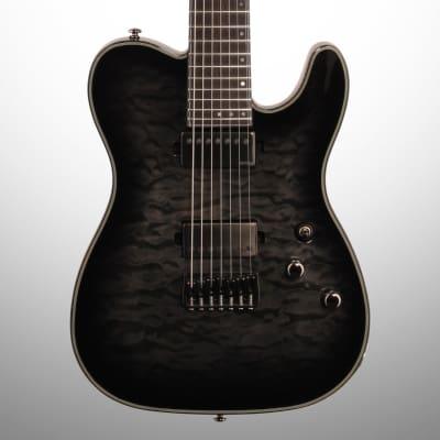 Schecter Hellraiser Hybrid PT7 Electric Guitar, 7-String, Transparent Black Burst