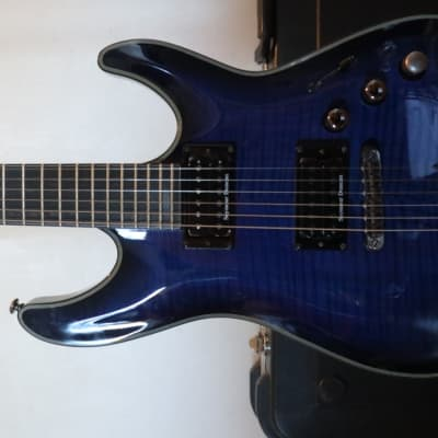 Schecter Blackjack SLS C-1 Passive See Thru Blue Burst for sale