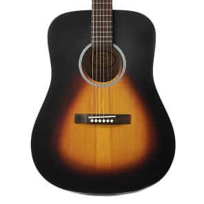 Recording King RDH-05 Dirty 30's Solid Top Dreadnought Acoustic Guitar Satin Sunburst