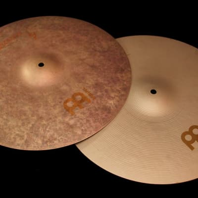 "Meinl 16"" Byzance Vintage Sand Hi-Hat Cymbals (Pair) 2019"