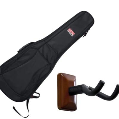 Gator GB-4G-ELECTRIC Electric Guitar Gig Bag + Frameworks Wall Hanger (Mahogany)