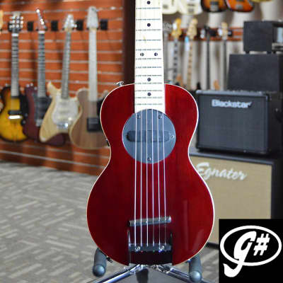 G-Sharp OF-1 Tenor Travel Guitar, Red Wine (g# tuning, comes w/ gig bag) for sale