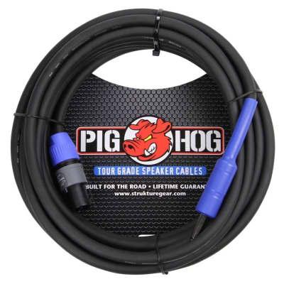Pig Hog 25 Foot Speakon to 1/4 inch 14-Gauge Speaker Cable