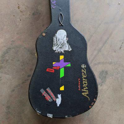 Alvarez Acoustic guitar case with stickers