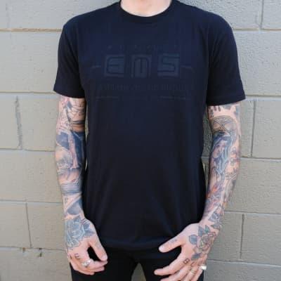 Classic Pedal Logo T-Shirt - Black on Black / L
