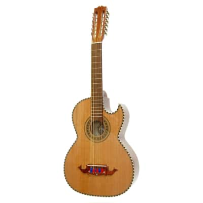 New Paracho Elite Bravo 12-String Bajo Sexto Acoustic Guitar with Solid Cedar Top, Natural for sale