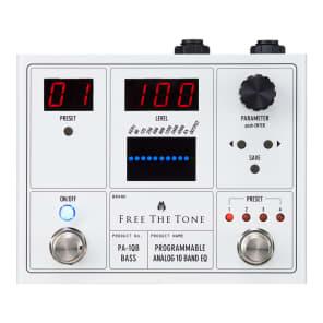 Free The Tone PA-1QB Programmable 10-Band Analog Bass EQ