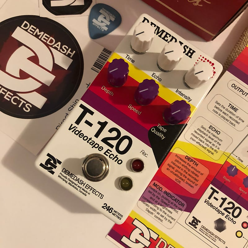 Brand New Demedash T-120 Video Tape Echo aged VHS warbly lofi vinyl delay  pitch warped modulated