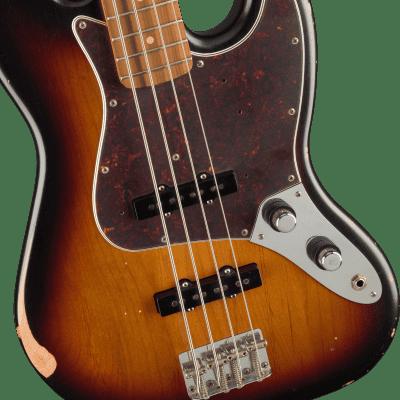 Fender 60th Anniversary Roadworn 60s Jazz Bass - 3-Color Sunburst with Pau Ferro Fingerboard for sale