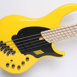 Dingwall NG2 5-string in Ferrari Yellow WITH Reunion Blues gig bag, free ship & pro custom setup! for sale