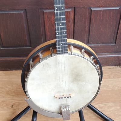 Antique 1930s Sterling Tenor Banjo ~ New Tailpiece and Bridge ~ With NOCC ~ Newly Reduced Price !