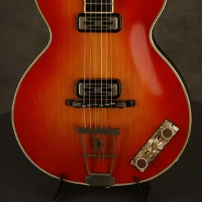 Hofner CLUB 60 w/TOASTER pickups! #195 made 1959 Cherry Sunburst for sale