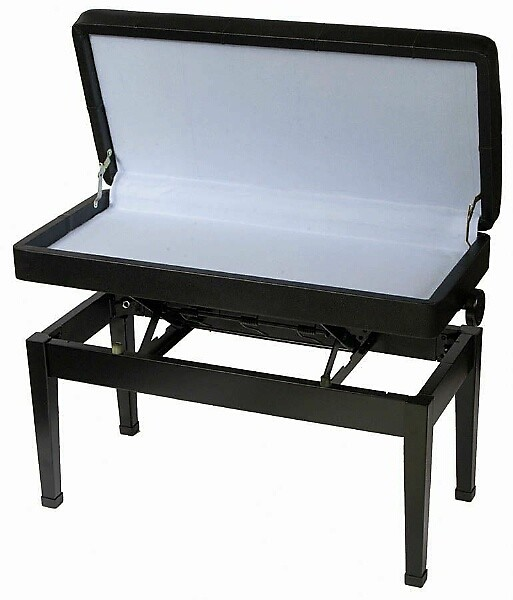 Stageline Duet Seat PBK12 Padded Piano Keyboard Seat Bench With Storage