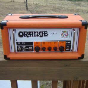 Orange OR15H 15-Watt Tube Guitar Head, Orange Tolex